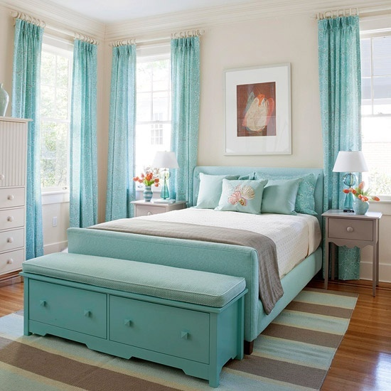 Even Without Any Special Decor, Light Blue Combined With Beige Could Remind  You About All