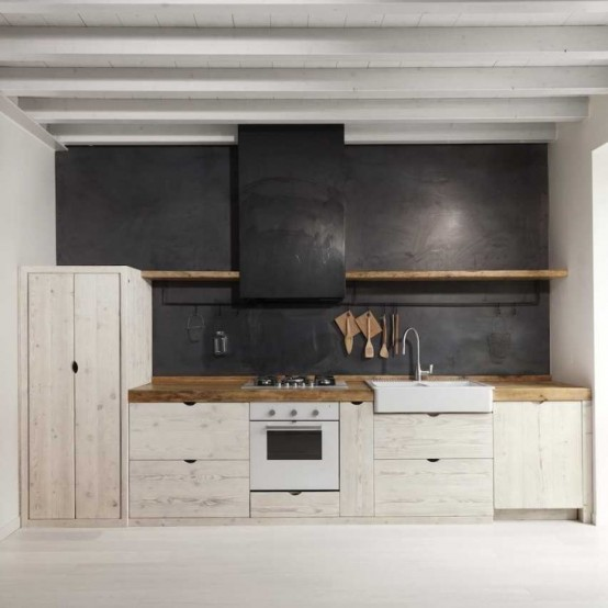 Beautiful Black And White Wooden Kitchen Design Digsdigs