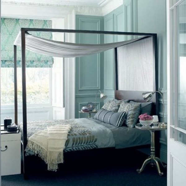 20 beautiful blue and gray bedrooms digsdigs - Beautiful bedroom images ...