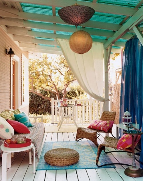 37 Beautiful Bohemian Patio Designs - DigsDigs on Bohemian Patio Ideas id=46469