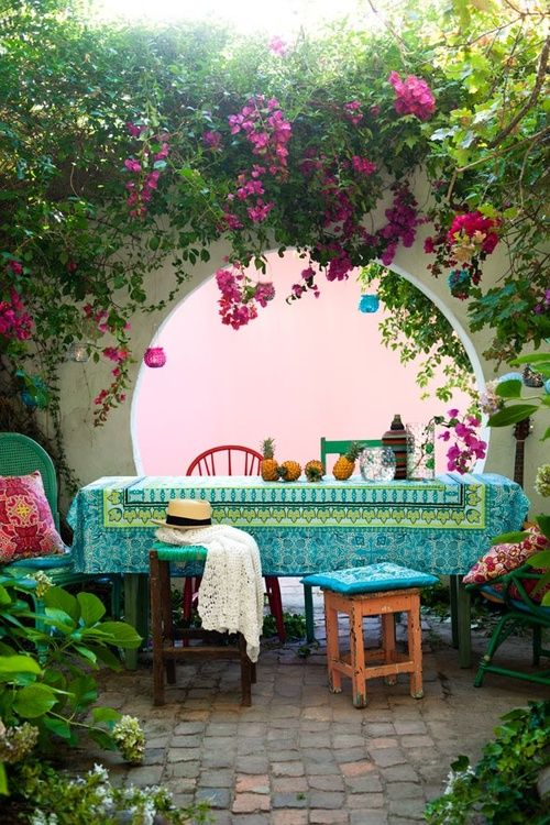 37 beautiful bohemian patio designs digsdigs Beautiful garden patio designs