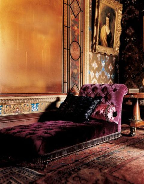a luxurious burgundy velvet lounger is a refined accent to your living room this fall