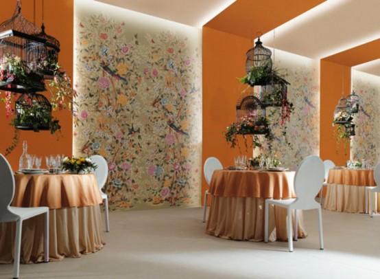 Beautiful Ceramic Tiles That Remind Of Wallpaper