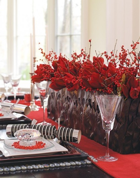 beautiful christmas centerpieces  digsdigs, Beautiful flower