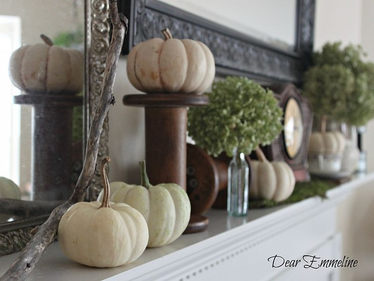 39 Beautiful Fall Mantel Décor Ideas  DigsDigs