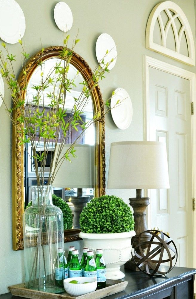Bring Spring In: 27 Beautiful Greenery Touches For Your ... on Beautiful Home Decor  id=54487