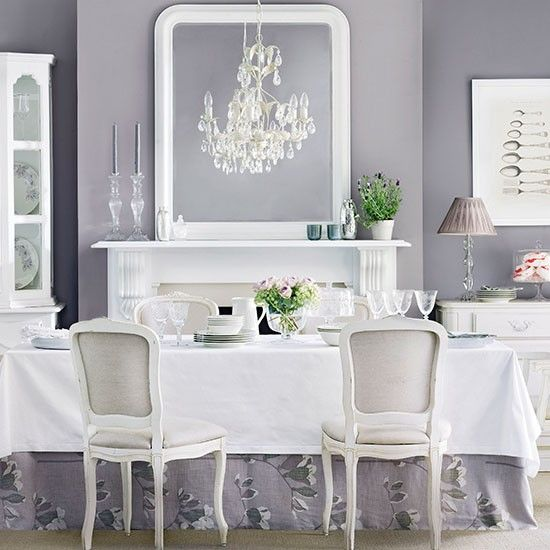 Grey And White Dining Room Set Leetszonecom