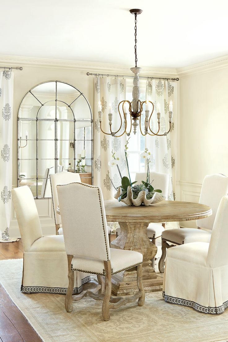 25 beautiful neutral dining room designs digsdigs Kitchen table in living room