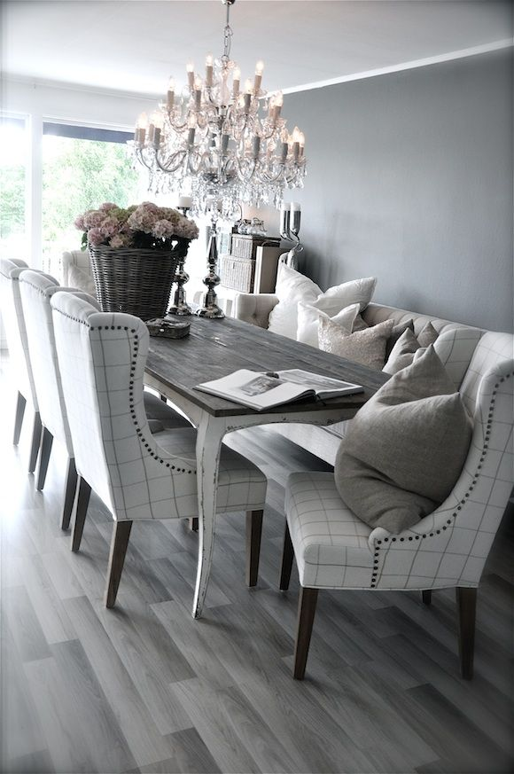 25 beautiful neutral dining room designs digsdigs for Grey dining room