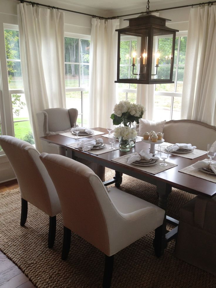 25 beautiful neutral dining room designs digsdigs for Ballard designs dining room