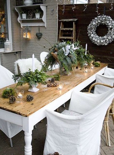 18 Beautiful Outdoor Christmas Table Settings Digsdigs