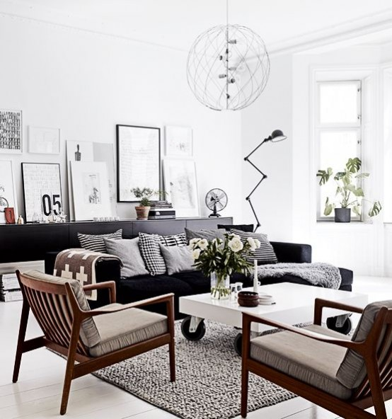 50 Splendid Scandinavian Home Office And Workspace Designs: 45 Beautiful Scandinavian Living Room Designs