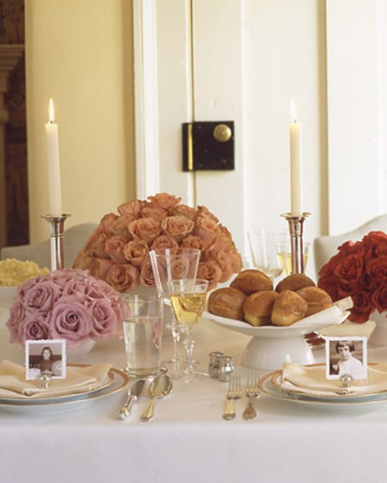 12 Beautiful Table Settings For Hanukkah , DigsDigs