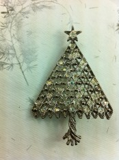 a whimsy vintage Christmas tree of wire and beads is a creative idea to add a refined feel to the space