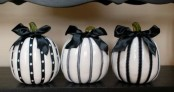 cute black and white pumpkins are perfect for Halloween decor