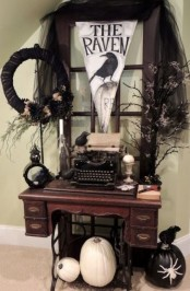 halloween wreaths could be used for indoor decor