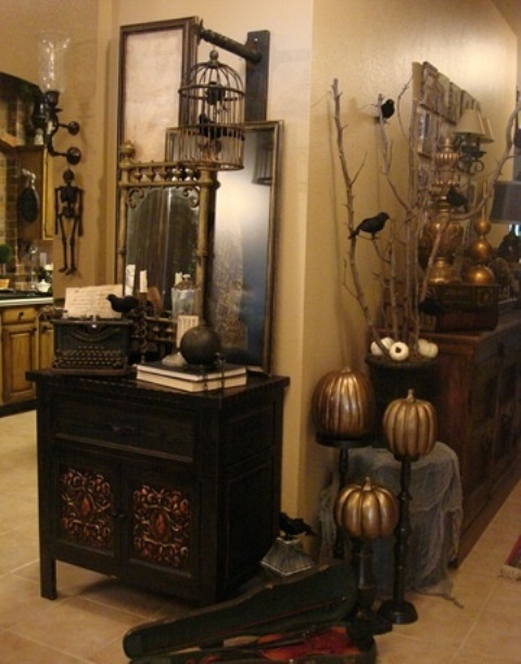 beautiful vintage halloween decor ideas - Unique Halloween Decor