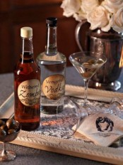 vintage scary drinks for Halloween and olives are great for a vintage Halloween party and they excite with styling