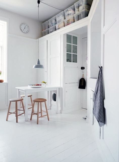 Beautiful White Home With Smart Storage Solutions
