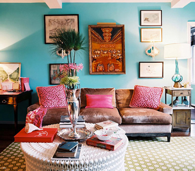 beautifully colored living room - Bright Color Bedroom Ideas
