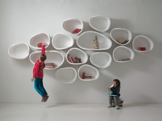 Beauty In Imperfections Organically Shaped Favo Shelf System