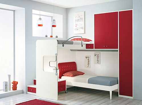 Bunk beds and loft bedrooms for teenagers by ima digsdigs for Room design 3x3