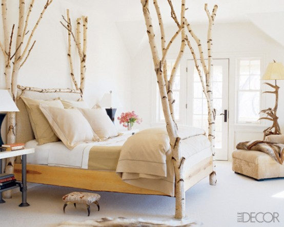 Bedroom With A Birch Four Poster