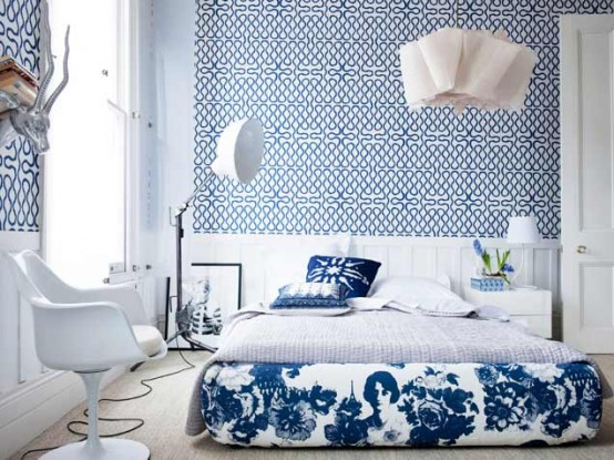 Bedroom With Bold Geometric Design