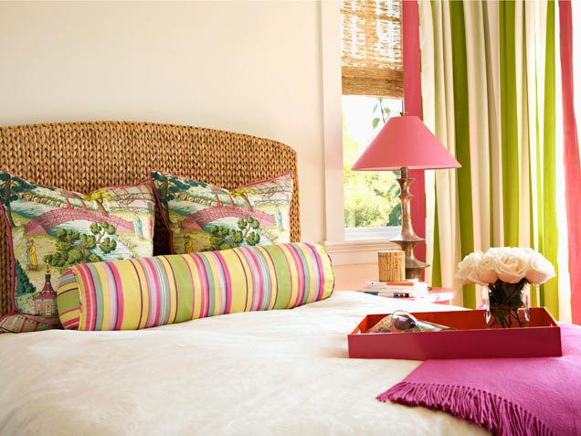 Bedroom With Colorful Stripes