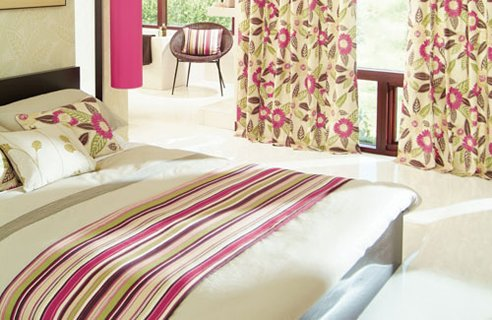 Bedroom With Combined Graphics And Florals