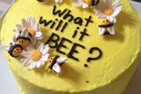 bee cake for a gender neutral baby shower
