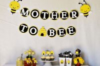 bee-themed  gender neutral baby shower decorations