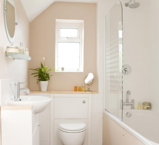 43 calm and relaxing beige bathroom design ideas digsdigs - Salle de bain 3m carre ...