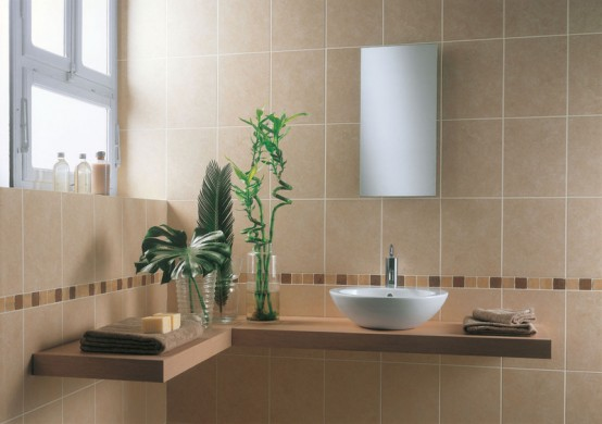 43 Calm And Relaxing Beige Bathroom Design Ideas Digsdigs - Beige-bathroom-tiles