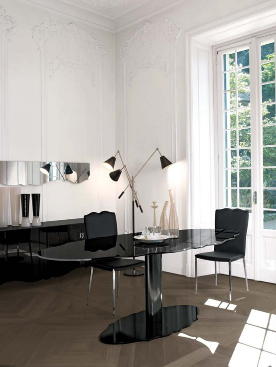 Modern Tables with Molded Outline from Emmei