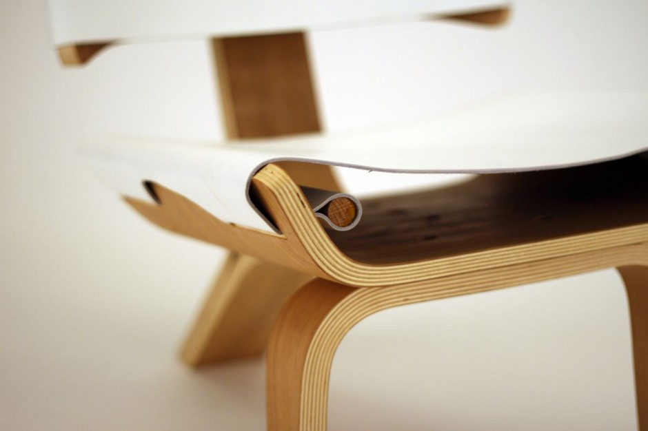 Aesthetically Brilliant Chair Made Of Bent Plywood And
