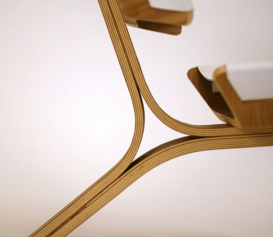 Bent Plywood And Leather Chair & Aesthetically Brilliant Chair Made Of Bent Plywood And Leather ...