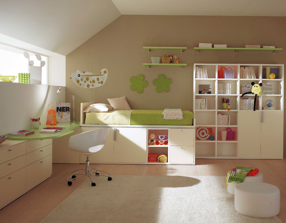 29 bedroom for kids inspirations from berloni digsdigs. Black Bedroom Furniture Sets. Home Design Ideas