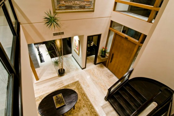 Big Contemporary House With Dark Interior