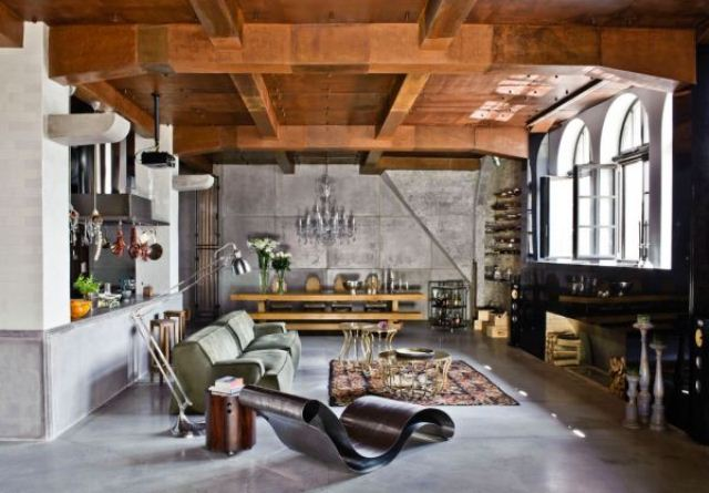 Big Loft With Eclectic Interior In Budapest | DigsDigs