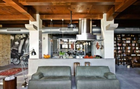 Big Loft With Eclectic Interior In Budapest