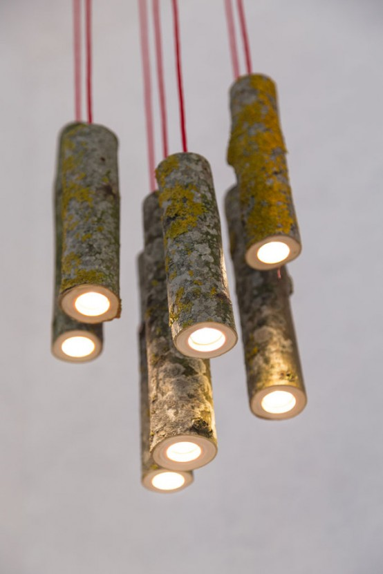 Bio Mass Lights Made From Real Tree Branches