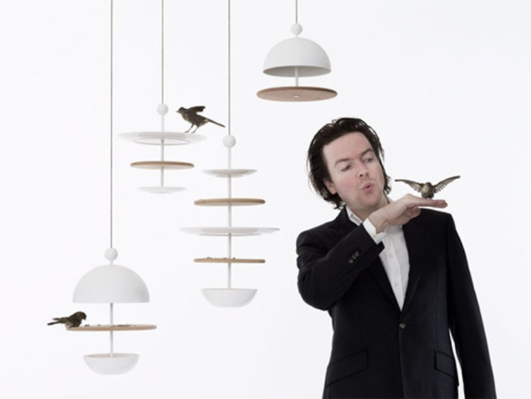 Contemporary Bird Feeders In Shapes Of Tableware