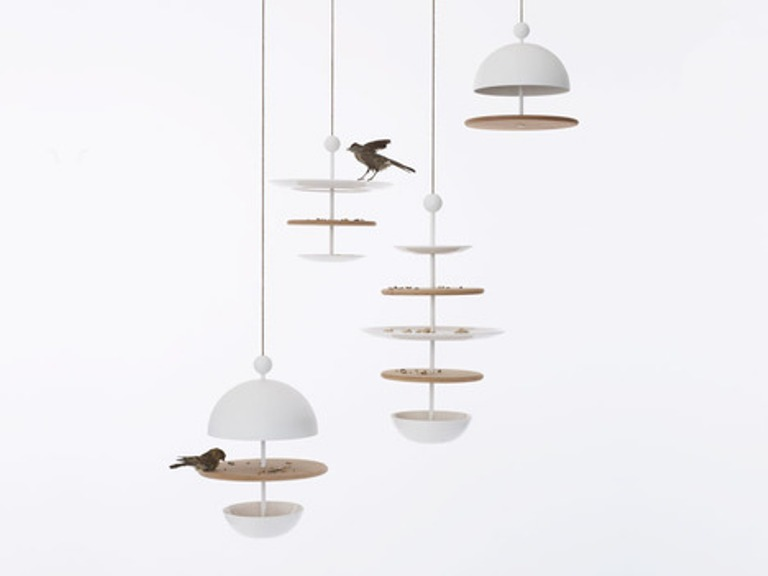Bird Feeders In Shapes Of Tableware