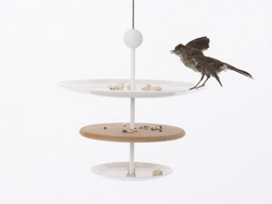 Bird Feeders In Shapes Of Tableware
