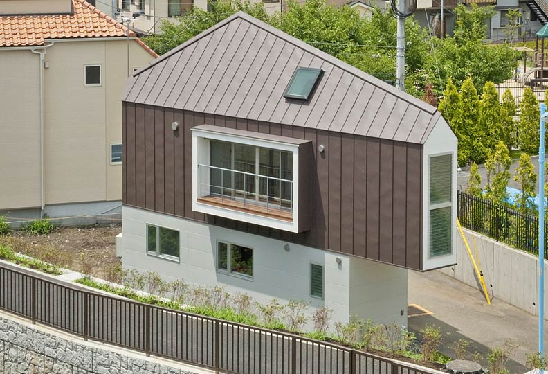 Compact Birdhouse-Shaped Minimalist Home