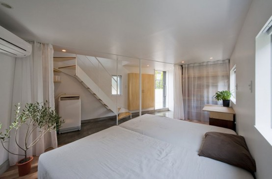 Bird House Shaped Minimalist House