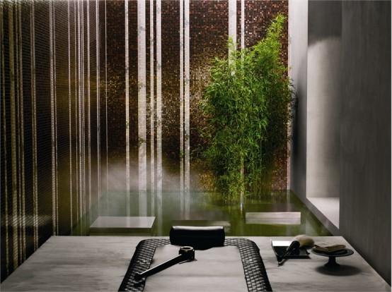 Bamboo Black Mozaic