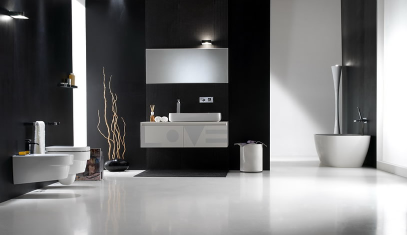 Black and white bathroom design inspirations digsdigs for Black bathroom designs