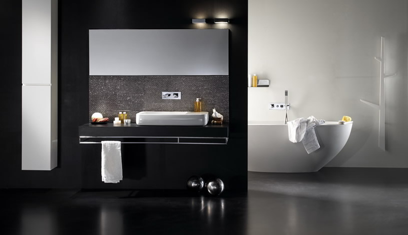 Bathroom Design White And Black : Black and white bathroom design inspirations digsdigs